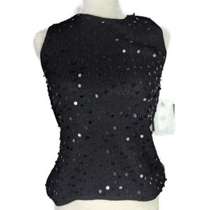 NWT Liz Claiborne sleeveless sweater with sequins